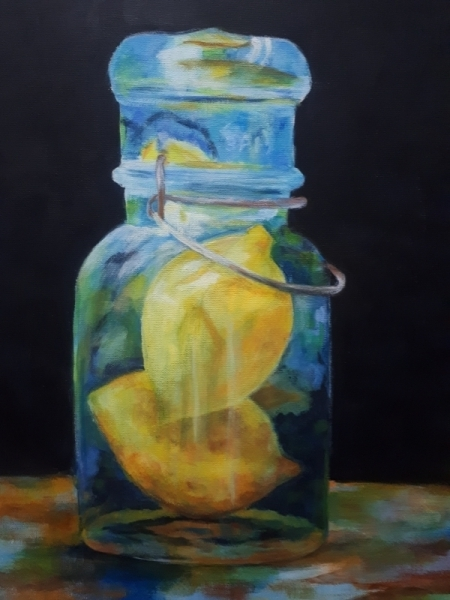 Citroenen in glas